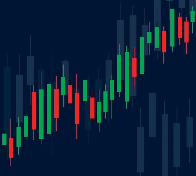 Candlestick stock exchange Premium Vector