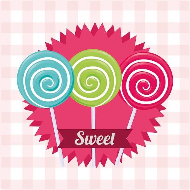 Candy design Premium Vector