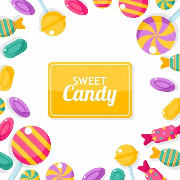 Candy frame Premium Vector