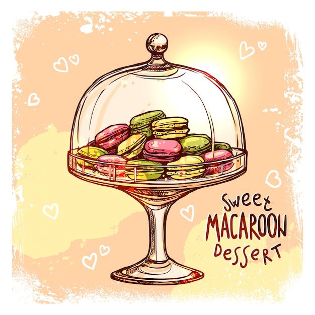 Candy jar sketch Free Vector