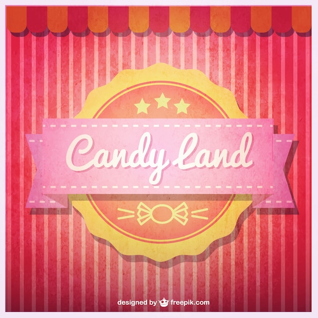 Candy land badge Free Vector