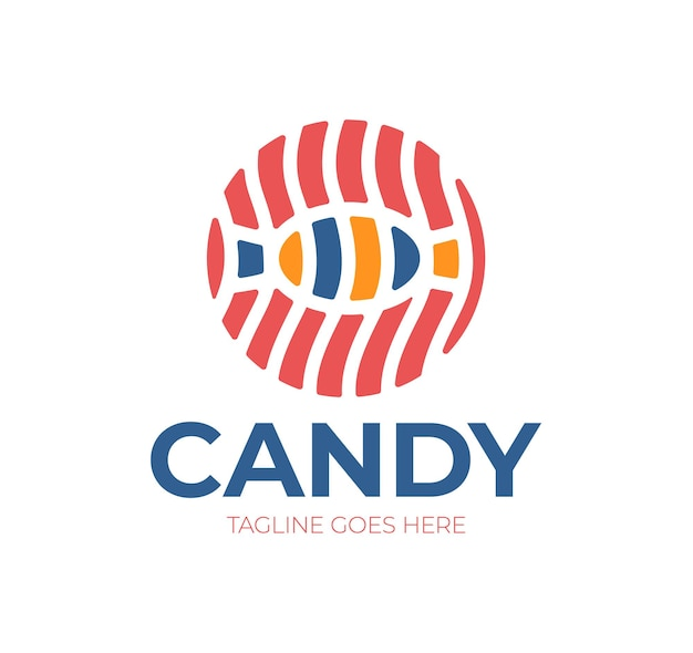 Candy   logo.   logotype for sweets, candy shop, boutique, store Premium Vector