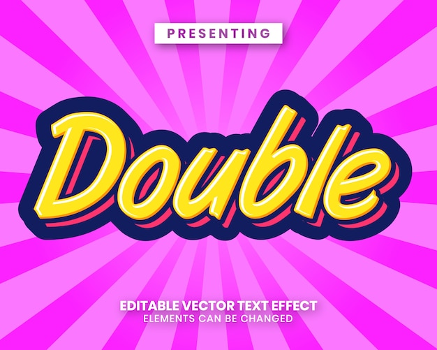 Candy look text style effect Premium Vector