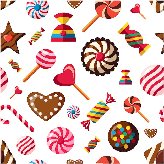 candy pattern background vector free download
