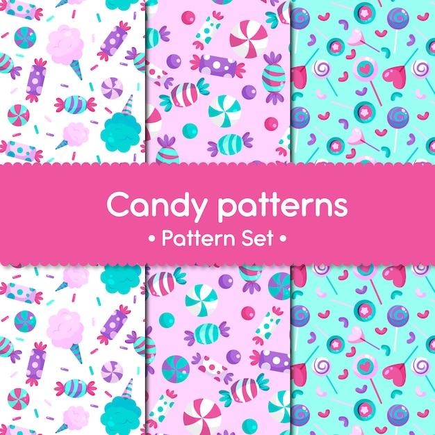 Candy patterns Premium Vector
