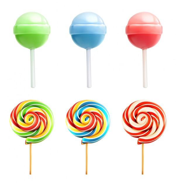 Candy set,  icons Premium Vector