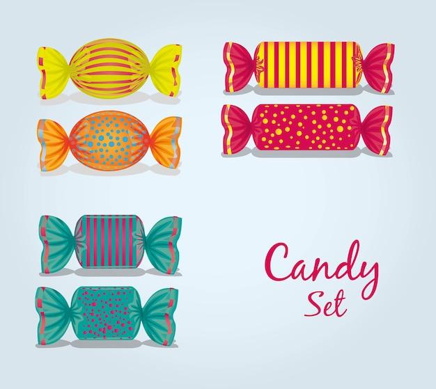 Candy set Premium Vector