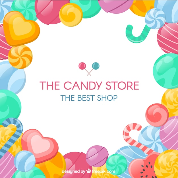 candy store background vector free download