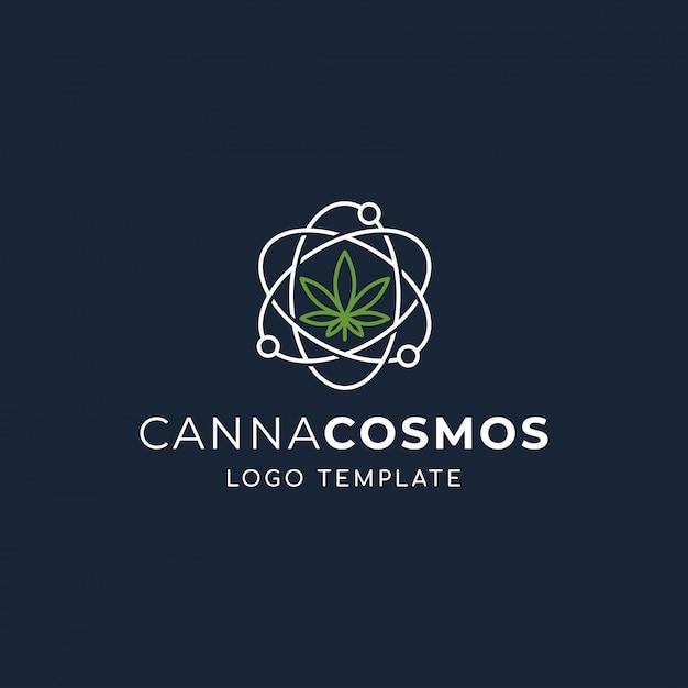 Cannabis cosmos Premium Vector