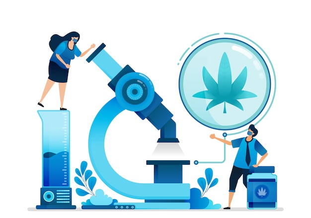 Cannabis  illustration. Premium Vector