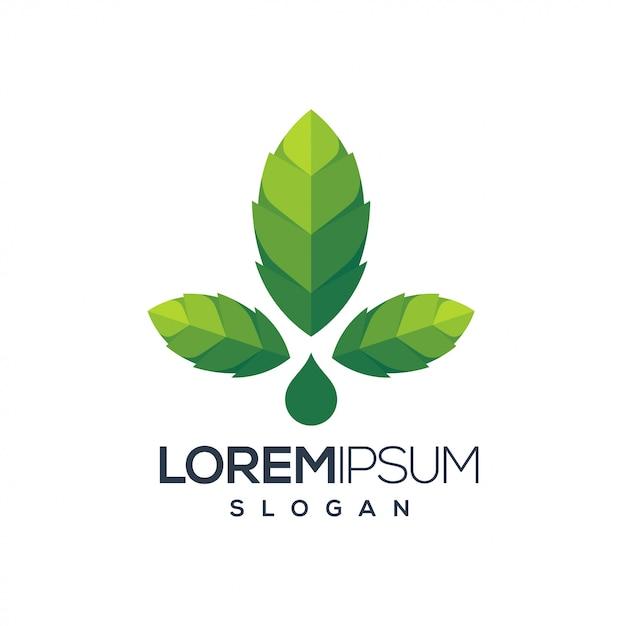 Cannabis leaf logo Premium Vector