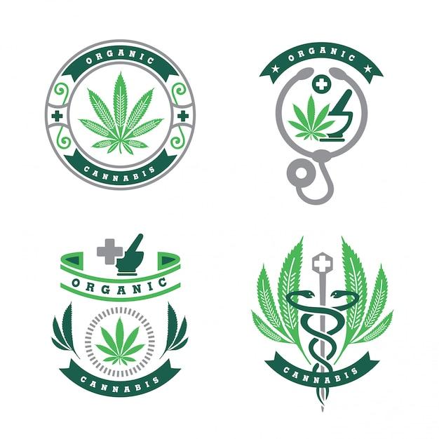 Cannabis logo   Premium Vector