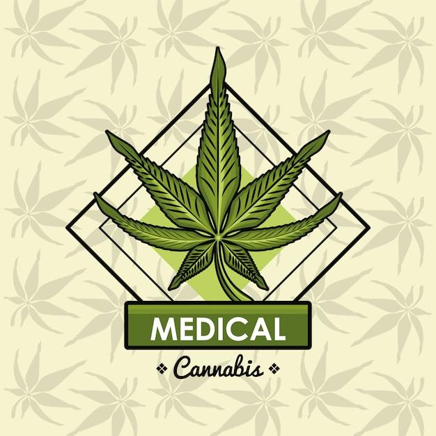 Cannabis medical card Premium Vector