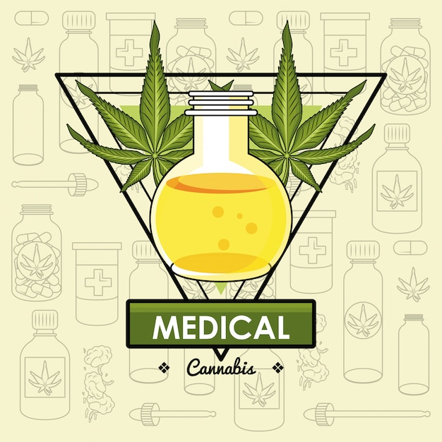 Cannabis medical concept Premium Vector