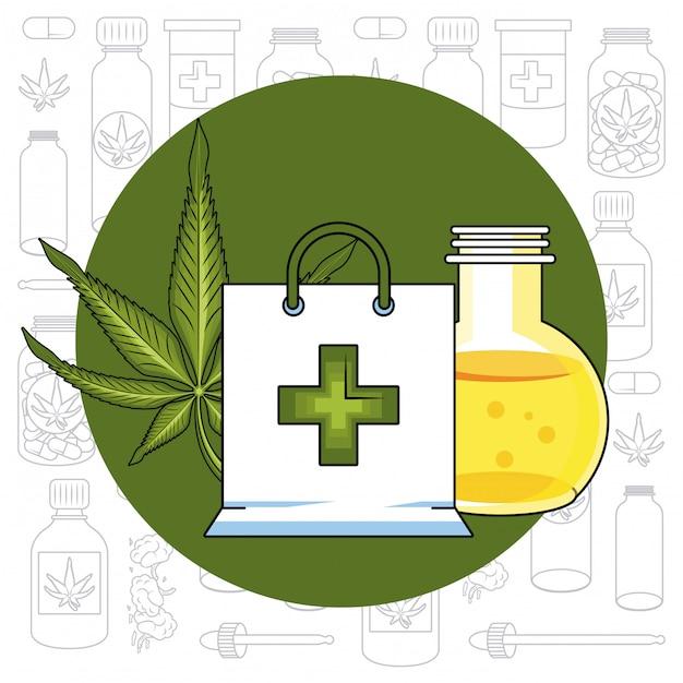 Cannabis medical concept Premium Vector