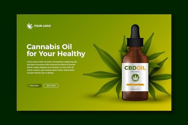 Olio di cannabis - pagina di destinazione Vettore gratuito