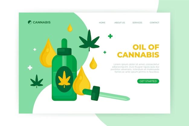 大麻油ウェブテンプレート Premiumベクター