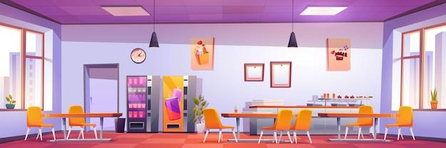 Canteen interior in school, college or university Free Vector