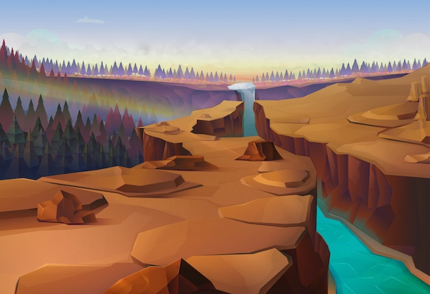 Canyon, nature Premium Vector