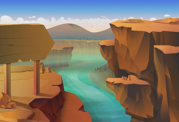 Canyon, nature Premium Vector