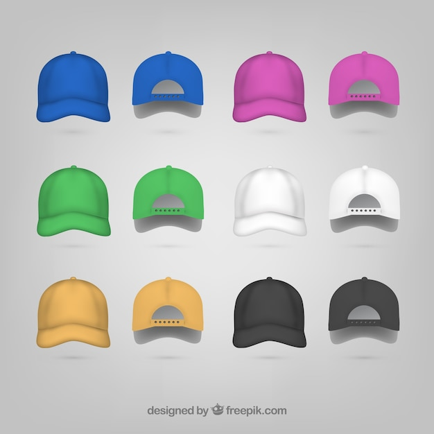 Cap back and front Free Vector