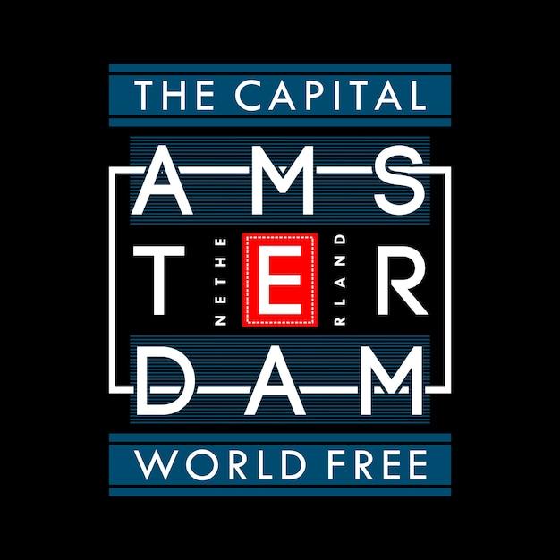The capital world freedom t shirt graphic Premium Vector