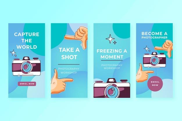 Cattura le storie di instagram del momento Vettore gratuito