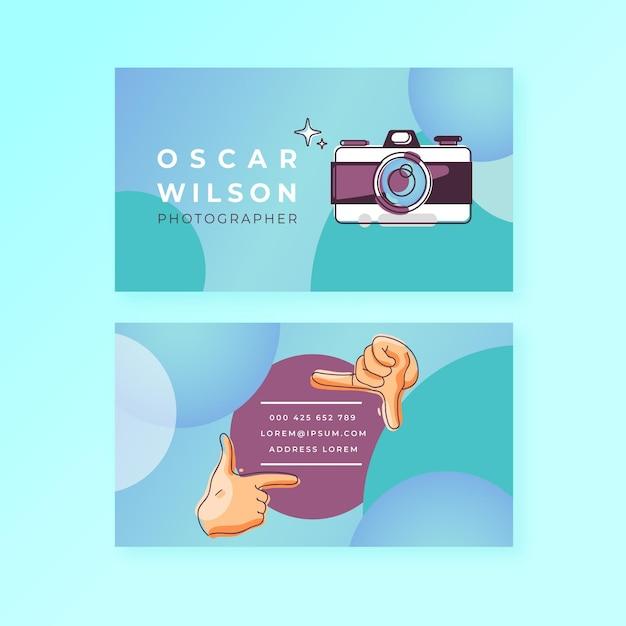 Запечатлеть момент горизонтальная визитка Premium векторы