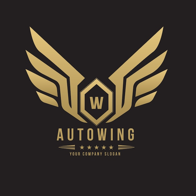 Car And Automotive Logo With Eagle And Wing Symbol Logo Template