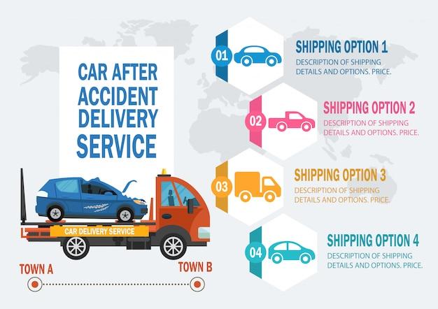 Car assistance service. vector flat illustration. Premium Vector