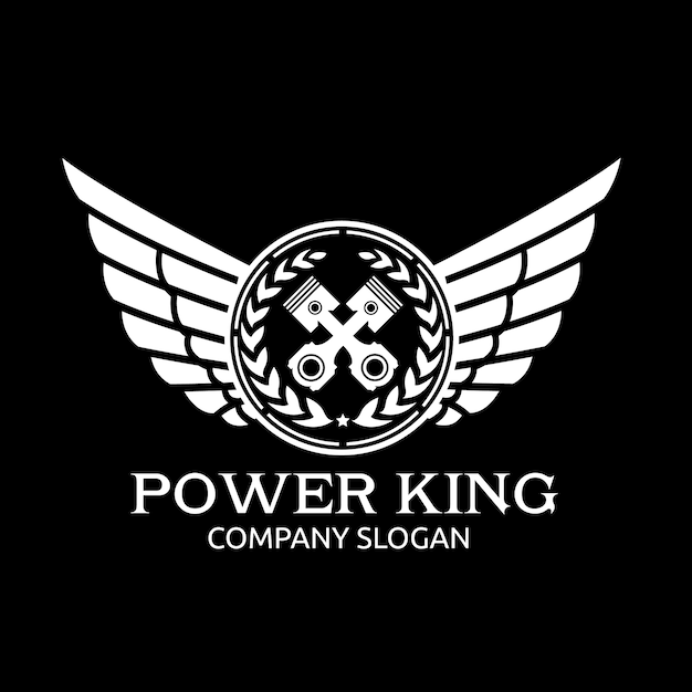 Car and automotive logo with eagle and wing symbol logo template. Premium Vector