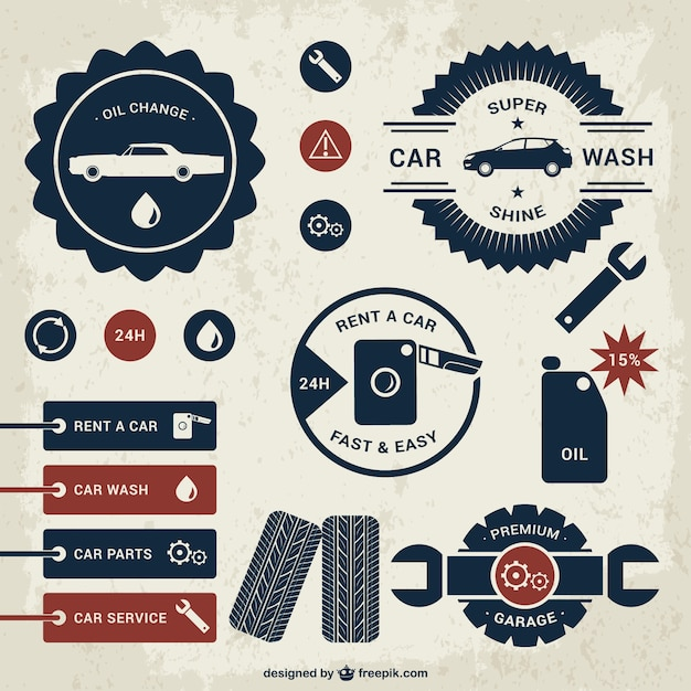 car badges template set vector free download