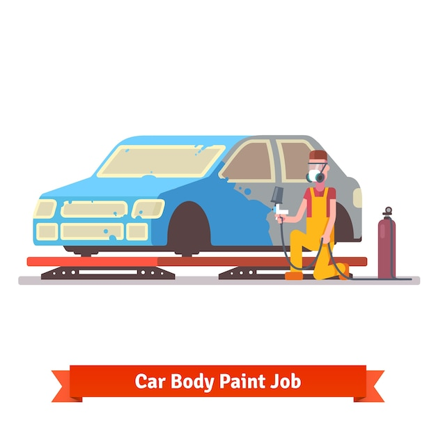 Car body paint job Vector | Free Download