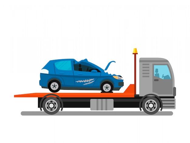 Car crash, evacuation service vector illustration Premium Vector