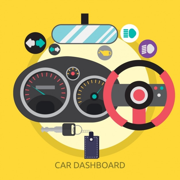 Car dashboard background design Free Vector