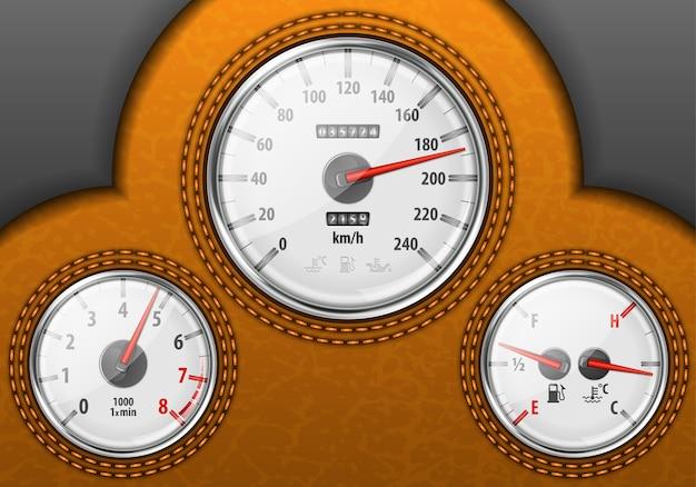 Car dashboard Premium Vector