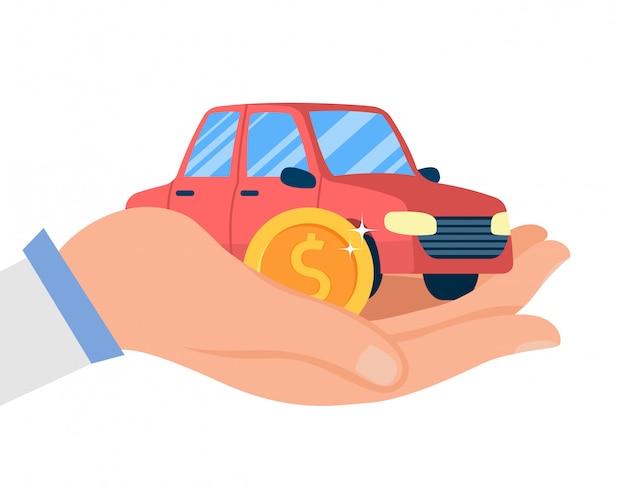 Car dealership service flat Premium Vector