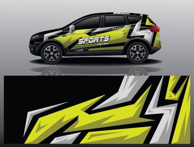 Car decal wrap design Premium Vector