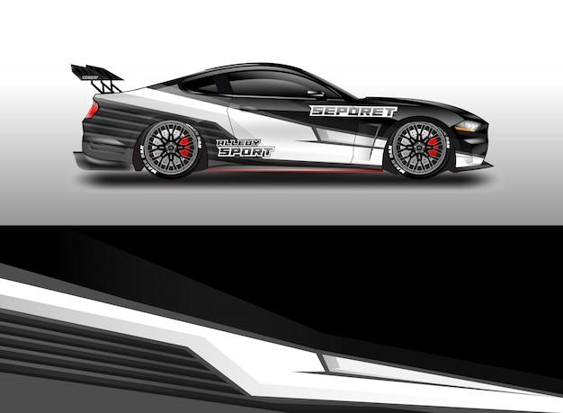 Car decal wrap vector designs Premium Vector