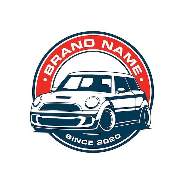 Car emblem logo design Premium Vector