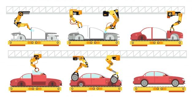 Роботизированный конвейер по сборке автомобилей элеваторы конвейеры