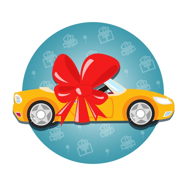 Car gift Free Vector