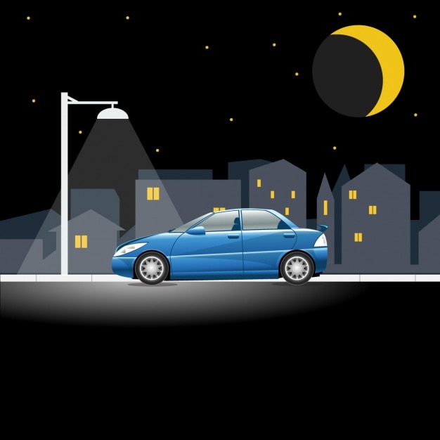 Car in night scene