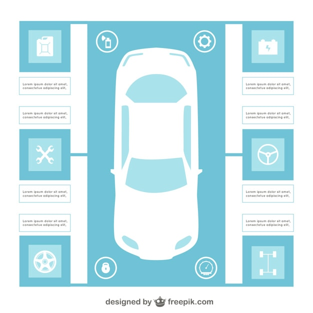car infographic template vector free download