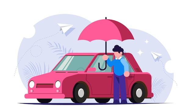 自然災害に対する自動車保険 Premiumベクター