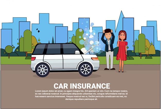 Car insurance service Premium Vector