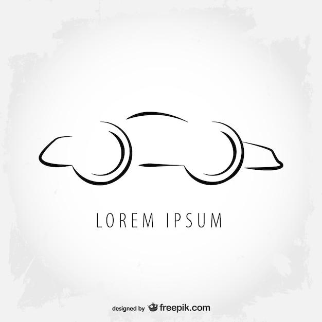 Line Drawing Logo : Car logo line art design vector free download