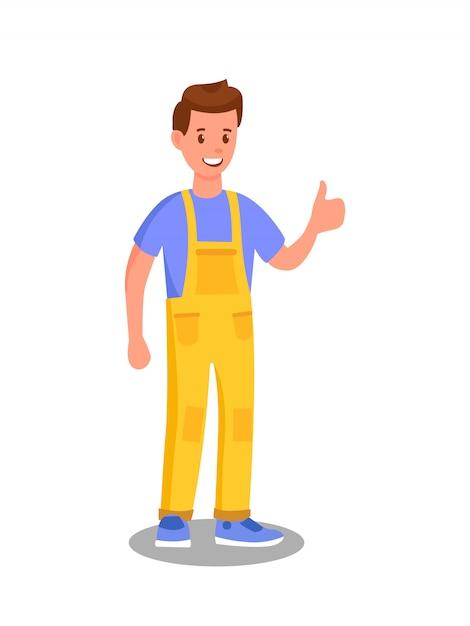 Premium Vector Car Maintenance Service Worker Illustration
