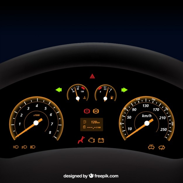Vehicle Control Panel : Car panel vector free download