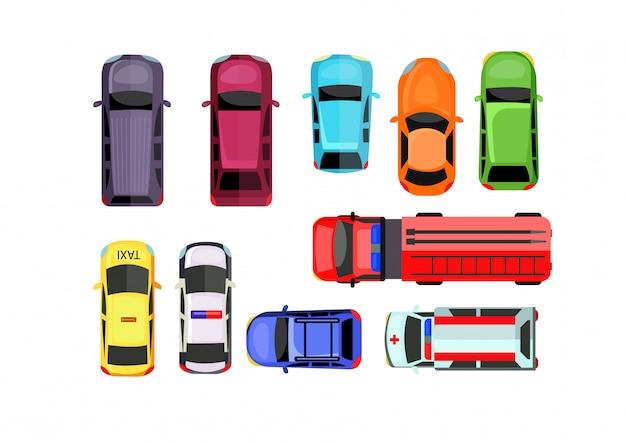 Car parking set Free Vector